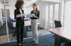 Two business women in office